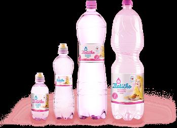 Rôzne veškostí fliaš Zlatíčko - dojčenská voda